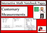Customary Measurements Lesson for Interactive Math Notebooks