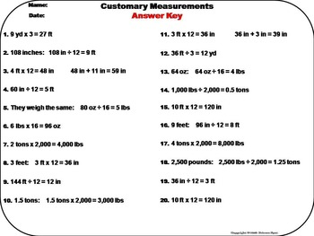 Converting Customary Measurements Task Task Cards Activity 4th 5th 6th 7th Grade