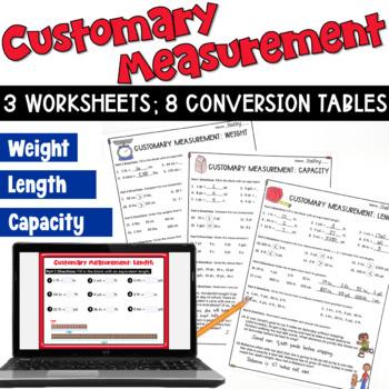 Customary Measurements Worksheets: Length,... by Deb Hanson ...