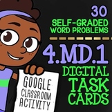 4.MD1 Task Cards ★ Customary & Metric Conversions ★ Self-Graded Google Classroom
