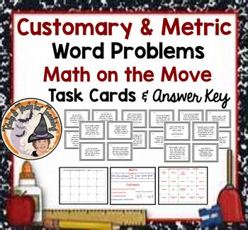 Customary Metric Measurement Word Problems Applications Sm