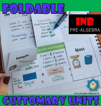 Foldable Customary System and conversion Factors
