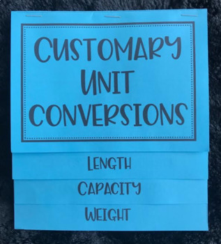 Customary Unit Conversions (Foldable)