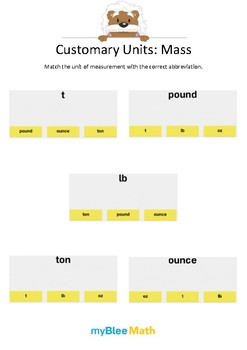 Measuring Volume & Mass: Customary Units – Mass 1