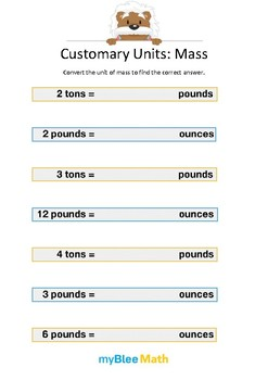 Measuring Volume & Mass: Customary Units – Mass 2