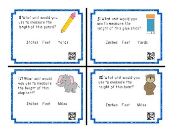 Customary Units Task Cards - Choose the Unit