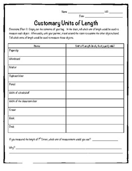 Customary Units of Length