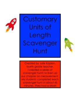 Customary Units of Length Scavenger Hunt