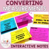 Converting Units of Measurement Interactive Notes (customa