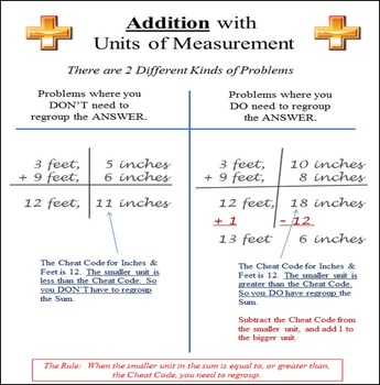 Customary Units of Measurement:  Adding and Subtracting