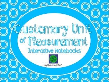 Customary Units of Measurement Flip Book