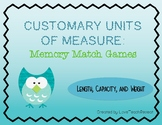 Customary Units of Measurement: Memory Match Games
