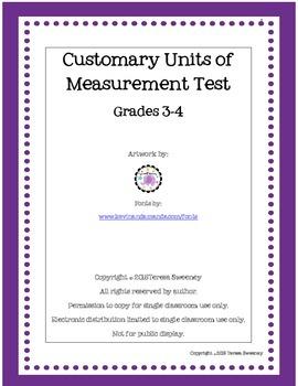 Customary Units of Measurement Test