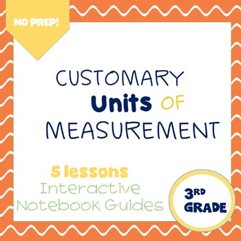 Customary Units of Measurement (enVision Topic 14) Interactive Notebook