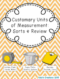 Customary Units of Measurement (Sorts & Review)