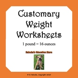 Customary Units of Weight Worksheets