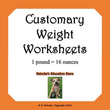 customary units of weight worksheets by reincke 39 s education store. Black Bedroom Furniture Sets. Home Design Ideas
