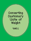 Customary Units of Weight Conversions