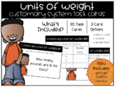 Units of Weight: Customary System Task Cards