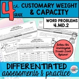 Customary Weight & Capacity Word Problems {Differentiated}