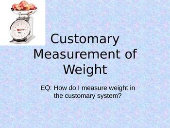 Customary Weight Powerpoint