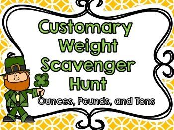Customary Weight Scavenger Hunt