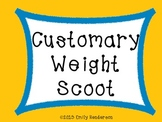 Customary Weight Scoot or Task Cards (Ounces, Pounds, Tons)