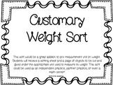 Customary Weight Sort