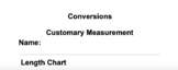 Customary and Metric Conversion Charts