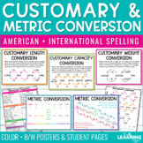 Measurement Conversions   Customary and Metric Posters