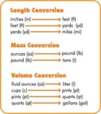 Customary and Metric Conversion Quiz and Review
