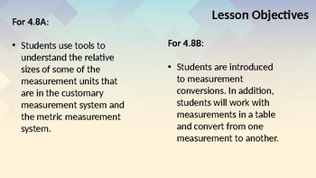 Customary and Metric Conversions (4.8AB)