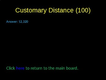Customary and Metric Conversions Review Game Activity
