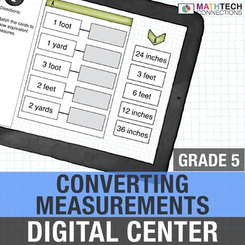 Customary and Metric Measurement Conversions - 5th Grade Digital Math Center
