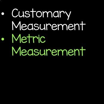 Customary and Metric Measurement Math Unit Bundle 5th Grade Common Core