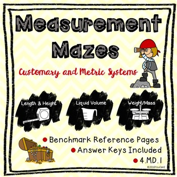 Customary and Metric Measurement Mazes