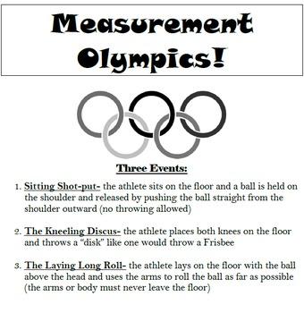 Customary and Metric Measurement Olympics!