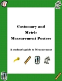 Customary and Metric Measurement Posters- A Student's Guid