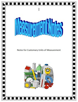Customary measurement notes