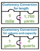 Customary metric system conversion chart Puzzle activity T