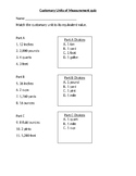 Customary units quiz