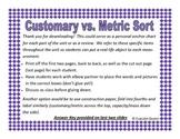 Customary vs. Metric Sort