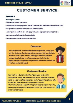 Customer Service Business English Level 1