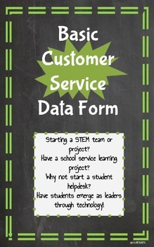 Customer Service Data Form STEM Technology