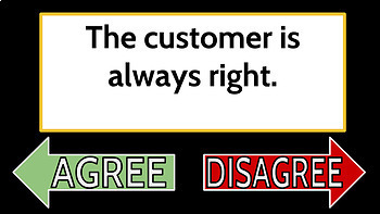 Customer Service Lecture Slides Freebie -Special Education High School