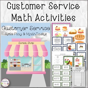 Customer Service Role Play and Math Tasks