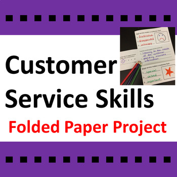 Customer Service Skills Folded Paper Project Activity