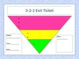 Customizable 3-2-1 Exit Ticket