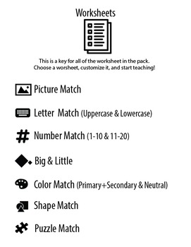 Adapted 7 SKILL PRESCHOOL BUNDLE Worksheets & Data For Students With Autism