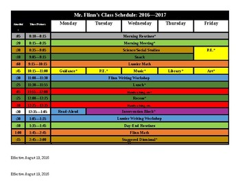 Customizable 8.5x11 Schedule